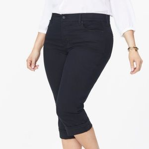 NYDJ lift and tuck technology crop jeans with cuff